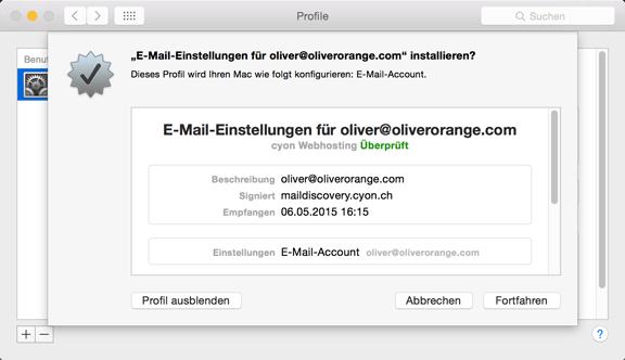 Auf Apple-Geräten lassen sich  E-Mailkonten dank Profilen ganz einfach konfigurieren.
