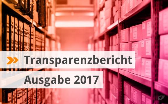 Transparenzbericht Ausgabe 2017