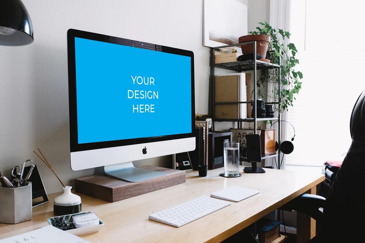 iMac auf Bürotisch